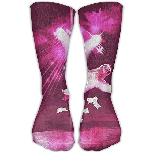 hat pillow Sexy Funny Pole Dancing Stripper Sloth Long Compression Socks For Women And Men - Best Medical, Nursing, Travel Flight Socks - Running Fitness