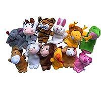 Tonsee 12pcs doigt animaux marionnettes en peluche enfant précoce éducation jouets cadeau bébé