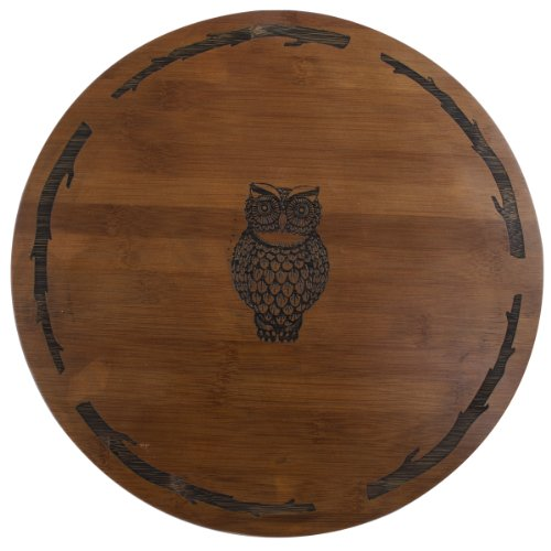 Thirstystone Bamboo Lazy Susan, Owl by Thirstystone Bamboo Lazy Susan
