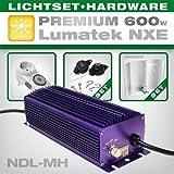 Vorschaltgerät Set Lumatek 600W NDL Set inkl. Adjust-A-Wings Avenger, Legrand Zeitschaltuhr und EasyRolls - ideal für Growbox/Growschrank
