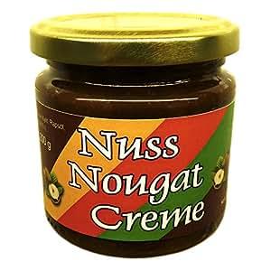 Nuss-Nougat-Creme 200 g (43,7% Haselnüsse), mit Xylit aus Finnland gesüßt, vegan, ohne Zuckerzusatz