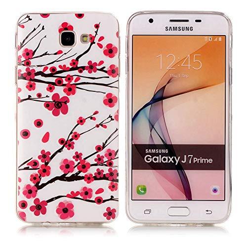 kelman hülle für Samsung Galaxy J7 Prime / On7 2016 / G610 Hülle - Weiches TPU Mode Leuchtend Stoßfest Anti-Rutsch Rückseitige Haut Handyhülle - [#XS34]