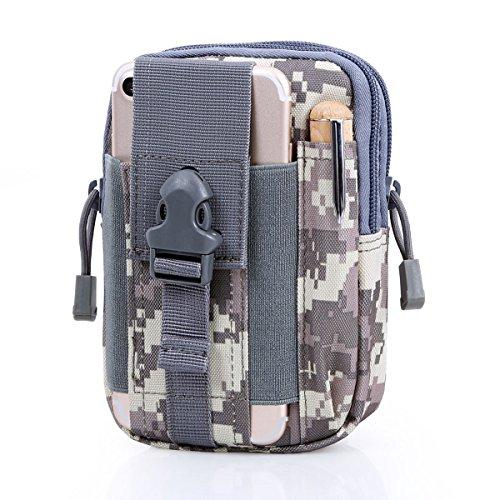 Han Lucky Stars Taktische Hüfttasche, Molle Multifunktional 1000D Gürteltasche Bauchtasche Handy Beintasche Klein Tasche Waist Bag Hip Bag für Outdoor Sport Wandern Camping Radfahren (ACU) -