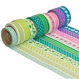 k-limit 10 Set Washi Tape rollos de Washi Tape, cinta decorativa autoadhesivo, cinta de enmascarar, masking tape Scrapbooking DIY Washitape Scrapbooking DIY 9883