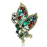 CUIGU Brosche Schmetterling Pin Schmuck Frauen Rhinestone colorful Fashion Emaille Dekoration