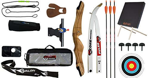 AIM ARCHERY PACKAGE B BEGINNERS BASIC RECURVE TRAINER BOW SET & TARGET Test