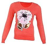 Miss Maria Girls Woollen Sweater (Pink, ...