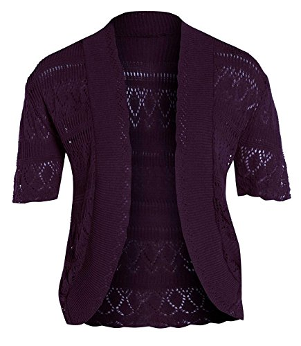Chocolate Pickle ® Femmes résille Bolero Cardigans purple