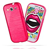 moex Samsung Galaxy S3 | Hülle Silikon Pink Brushed Back-Cover TPU Schutzhülle Ultra-Slim Handyhülle für Samsung Galaxy S3 / S III Neo Case Dünn Silikonhülle Rückseite Tasche
