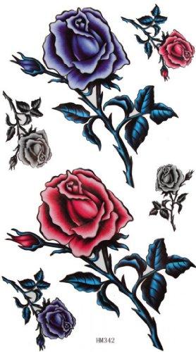 Spestyle impermeabile non tossico stickersmen tatuaggio temporaneo e donne sexy rose impermeabile di colore temporaneo tatuaggi abbellimento finale