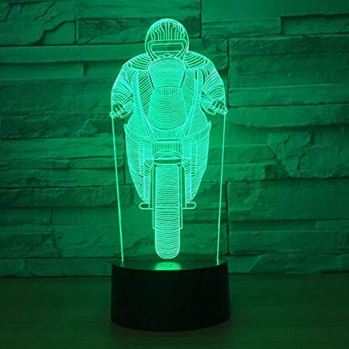 D führte Nachtlicht des Schlafzimmer-3d kleines,Partei-Dekorations-7 Farbänderungs-Lampe für erwachsenes Geschenk des lokalen Speichers ()
