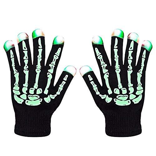 ANLW Kinder-LED-Handschuhe Finger leuchten auf-blinkende Finger Beleuchtung Handschuhe Spielzeug neuheit (Light Rave Up Spielzeug)