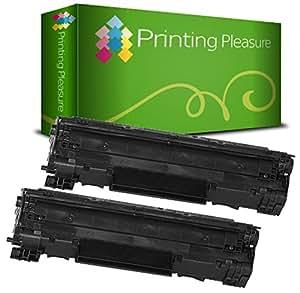 2 Compatibles Cartouches de Toner pour HP Laserjet P1505 P1505N P1506 M1120MFP M1120N M1520 M1522MFP M1522N M1522NF Canon LBP-3250 - Noir, Grande Capacité