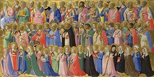 Das Museum Outlet-Fra Angelico-Die Vorläufer Christi mit Heiligen und Märtyrer-Poster Print Online kaufen (101,6x 127cm) (Märtyrer-poster)