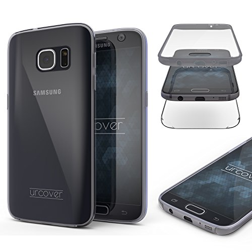 "Urcover Samsung Galaxy S7 ""Touch Case 2.0"" [Upgrade Juni 2017] 360 Grad Rundum-Schutz Full Cover [unbreakable Case bekannt aus Galileo] Crystal Clear Full Body Case Handy-Tasche Schale Handy-Hülle Schwarz (Offene Mehrere Taschen)"