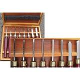 Lot 8 ciseaux à bois HSS-Mini gouges à dégrossir pour tour à bois burin