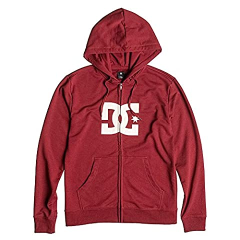 DC Shoes Men's Star Zip-Up Hoodie Syrah Red L