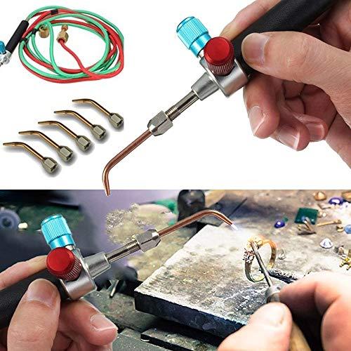 Schmuck-Micro-Mini-Gasbrenner-Schweißlötkolben-Kit mit 5 Spitzen für Sauerstoffflaschen Reparaturwerkzeuge und -kits ansehen -