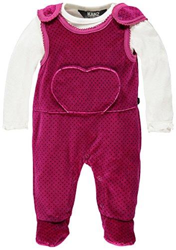 Kanz Baby - Mädchen Bekleidungsset Strampler + T - Shirt 1/1 Arm, Gr. 62, Rosa (festival fuchsia pink 2047)