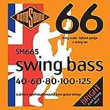 Rotosound Swing Bass Jeu de 5 cordes pour basse Nickel Filet rond Tirant hybrid (40 60 80 100 125) (Import Royaume Uni)