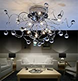 Lámpara colgante tipo araña de cristal de diseño moderno, creativo y minimalista...