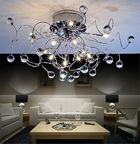 Design moderne minimaliste salon chambre mode personnalité créative Lampe suspension Lustre Design Moderne Minimaliste salon chambre mode personnalité créative Lampe suspension Lustre, 11x G4, 20W, Ø 73cm (Y Compris