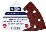SBS Klett-Schleifdreiecke   93x93x93   120 Stück   je 10x Korn 40/60/80/120/180/240 Delta Schleifscheiben