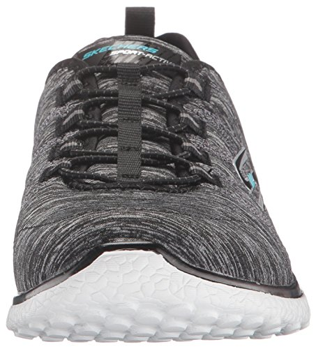 Skechers Microburst On The Edge Womens Slip On Shoes Black White