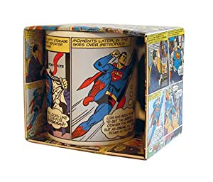 Classic Superman Cartoon Image Boxed Mug
