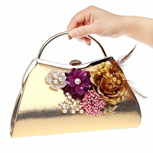 Reine Handarbeit, Aufkleber, Minimalistisch, Kette, Diamond, Tasche, Laptop, Abendessen Tasche Golden