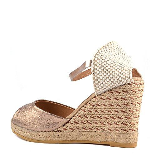 Kanna Chaussures Evita Sandales Or Femme Rosato