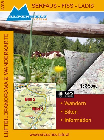 Alpenwelt Karte, Serfaus-Fiss-Ladis (A038)