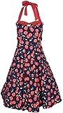 Produktbild von Küstenluder Damen Kleid Melia Cherry Kirschen Swing