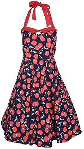 Küstenluder Damen Kleid Melia Cherry Kirschen Swing