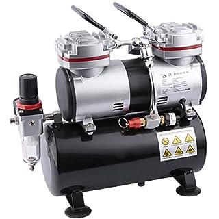 Fengda AS-196 Airbrush Mini Kompressor mit Lufttank/Druckbehälter/ 6 bar / Auto Stop