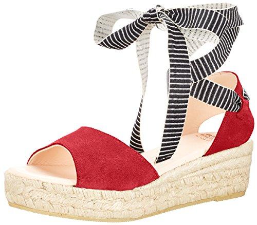 Fred de la Bretoniere Damen Sandale Espadrilles, Rot (Red), 38 EU