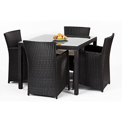 Isabel Table & Chair Set in Dark Brown
