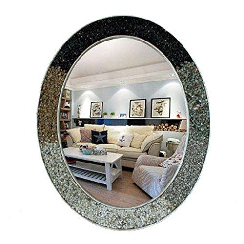 J-Z Mittelmeer Oval Kreatives Zuhause Waschbecken Spiegel Europäischen Wand Bad Eitelkeit Spiegel (Farbe: # 4, Größe: 57 * 71Cm), 6, 57 * 71 cm - Sechs Lampen Bad Möbel