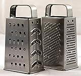 Vierkantreibe 2 Stk. Reibe -K&B Vertrieb- Küchenreibe 4 versch. Reibeflächen Küchenhobel klein