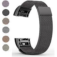 Fitbit Charge 2 Ersatz Armbänd, BeneStellar Ersatz Milanese Band für Fitbit Charge 2, Uhrband Uhrenarmband mit Magnet-Verschluss und Metallschließe