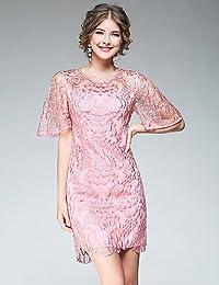 PU PU Attillato Vestito da Donna-per Uscire Casual Moda Città Jacquard  Rotonda sopra Il Ginocchio e374af131a1