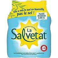 La Salvetat Eau Minérale Gazeuse Bouteille 6 x 1,25 L
