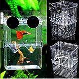 Aquarium Fish Breeding Box Pet Fish Tank Guppy Double Breeding Breeder Rearing Hatchery Splits Fish Tank House