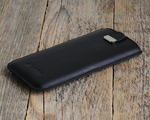 HTC Case Leder Hülle Tasche Etui Cover personalisiert durch Prägung mit ihrem Namen, Monogramm, für Bolt One 10 A9s S9 X9 A9 M9 M8 M8s E8 Desire 626 825 630 530 Prime Camera Pro Lifestyle,