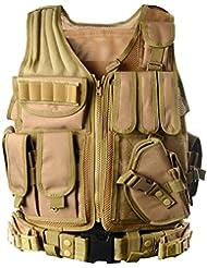 GITVIENAR Camuflaje Caza Táctico Militar Wargame Chaleco Body Armor Molle Chaleco De Caza CS Equipo Al Aire Libre de la Selva