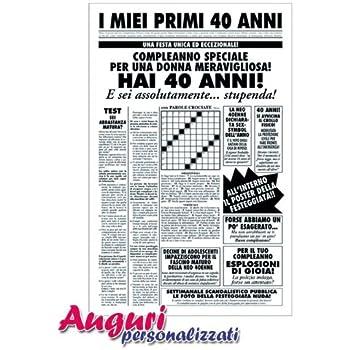 Bombo Biglietto Compleanno Auguri Segnale 40 Anni Amazon It