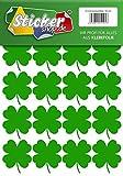 20 vierblättrige Kleeblätter, 50 mm, aus PVC Folie, selbstklebend, wetterfest, Glücksbringer Sticker Aufkleber