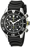 Seiko SSC021P1 Solar Diver's  - Wristwatch men's, Rubber, Band Colour: Black