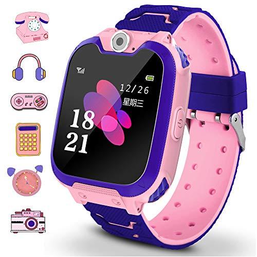 Game Smart Watch für Kinder Touchscreen Kamera Spiele Musikaufnahme Taschenrechner Mädchen und Jungen Lernspielzeug tolles Geschenk