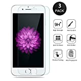 JIAHCN 3 Pack iPhone 6S schutzfolie , 0.2 MM/2.5D/9H Premium Full Abdeckung Ausgeglichenes Glas Screen Protector für Apple iPhone 6 4.7'' (3-Pack)